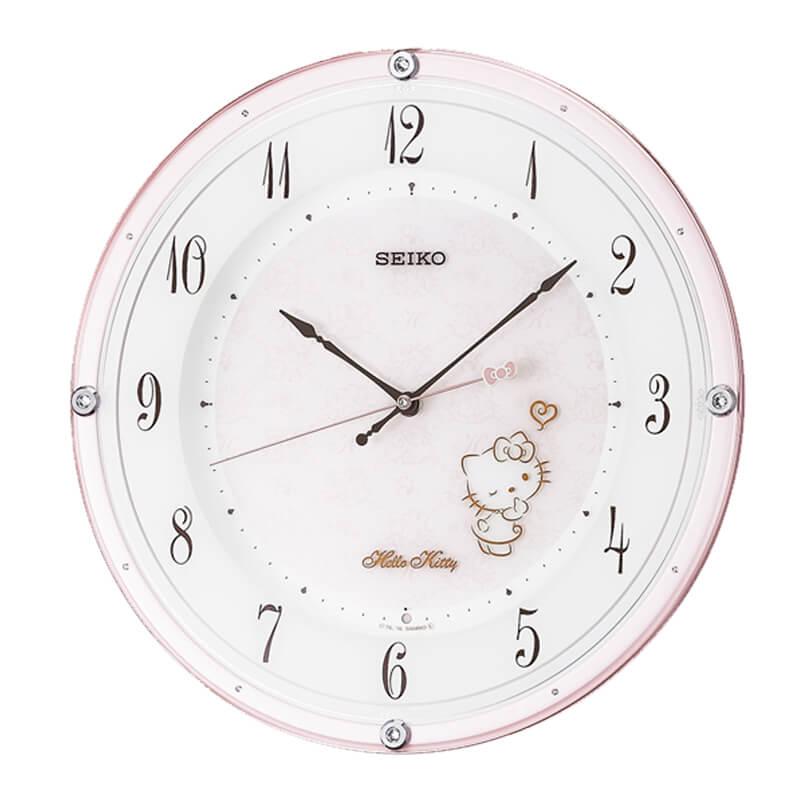SEIKO セイコー キャラクター 電波掛け時計 ハローキティ CS501P ピンク