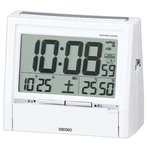 SEIKO/セイコー 電波クロック トークライナー【DA206W】 白パール