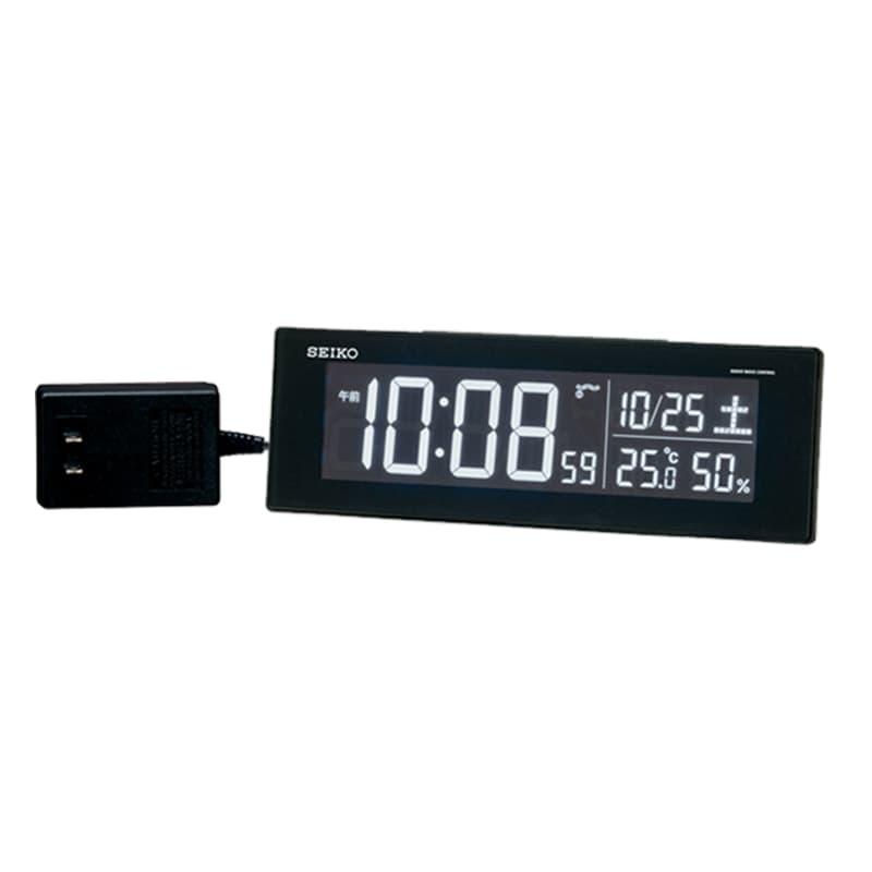 SEIKO セイコー アラーム付 デジタル電波置き時計 シリーズC3 DL305K 黒