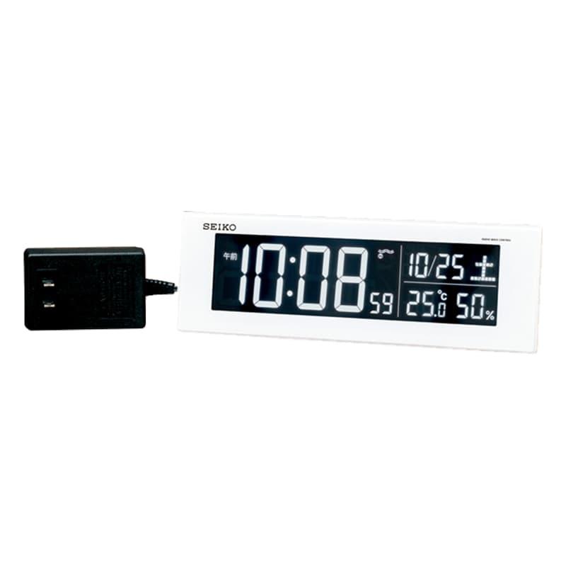 SEIKO セイコー アラーム付 デジタル電波置き時計 シリーズC3 DL305W 白