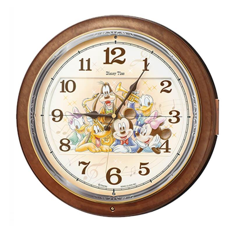 SEIKO(セイコ)キャラクタークロック ミッキーマウス Disney Time 電波振り子時計 FW587B 39cm