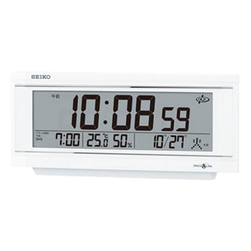 SEIKO(セイコー) 衛星電波置時計 スペースリンク GP501W ホワイト