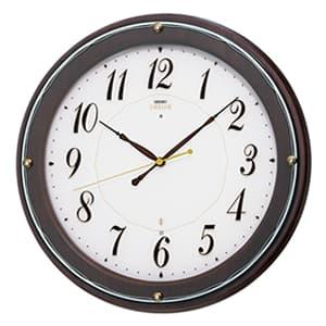 SEIKO EMBLEM セイコーエムブレム シックな木製電波壁掛時計[HS545B]