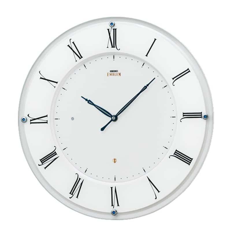 SEIKO EMBLEM(セイコー エムブレム)薄型電波掛け時計 HS548W 白【グリーン購入法適応商品】 35cm