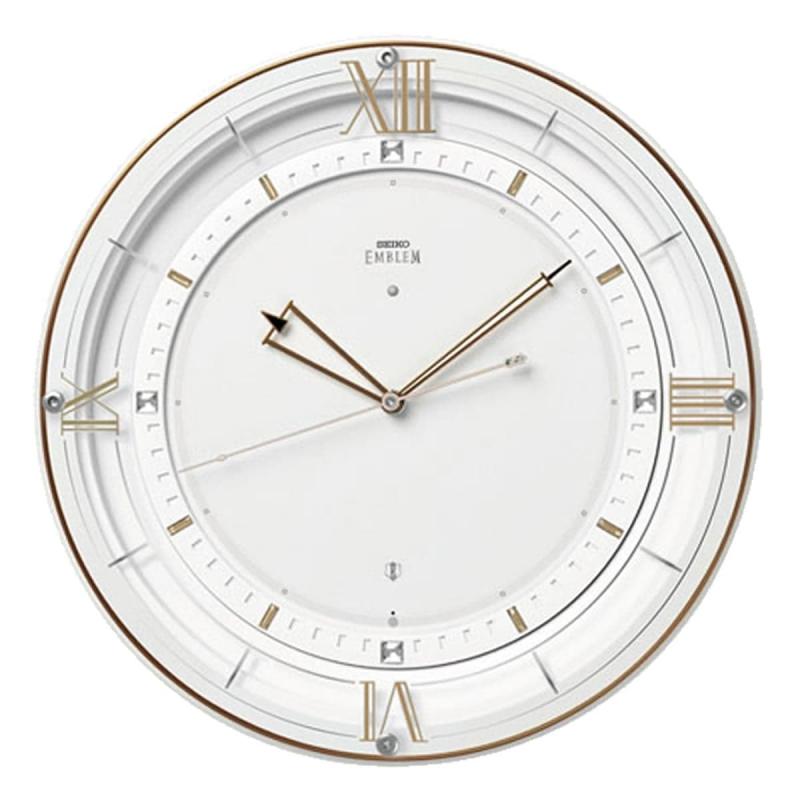 SEIKO EMBLEM(セイコー エムブレム)電波掛け時計 HS556W 白【グリーン購入法適合商品】