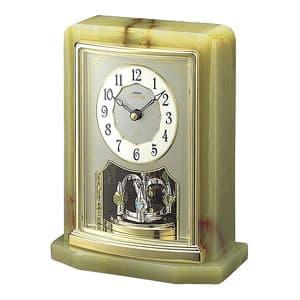 SEIKO EMBLEM セイコーエムブレム 天然石の風合いが魅力な置き時計[HW465G]