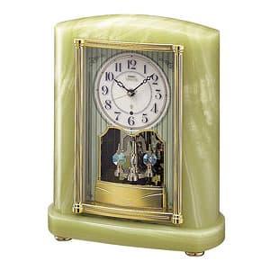 SEIKO EMBLEM セイコーエムブレム 天然石の風合いが魅力な回転飾り電波置き時計 [HW521M]