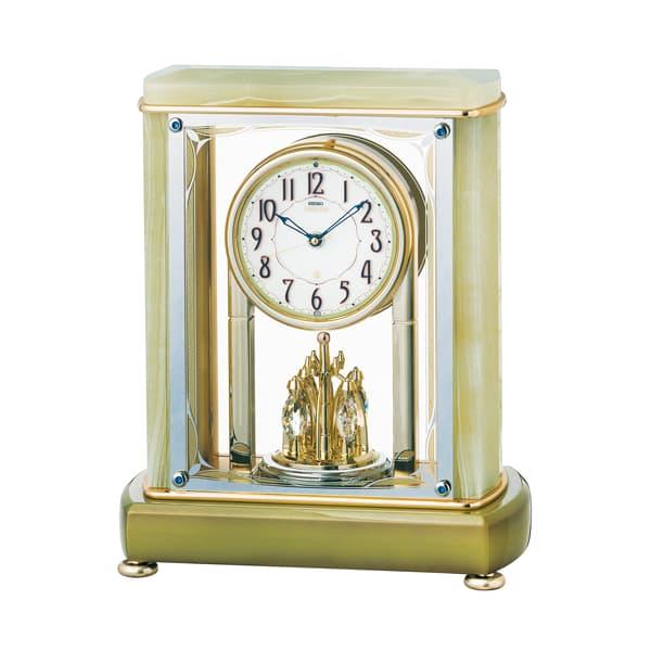 SEIKO EMBLEM セイコーエムブレム 天然石の風合いが魅力な置き時計[HW578M]
