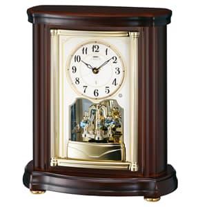 SEIKO EMBLEM セイコーエムブレム 木の風合いが魅力な回転飾り置き時計[HW581B]