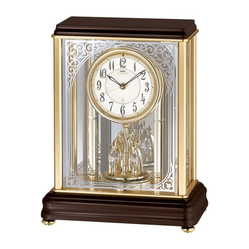 SEIKO EMBLEM(セイコー エムブレム)回転飾り付 電波アミューズ置き時計 HW596B