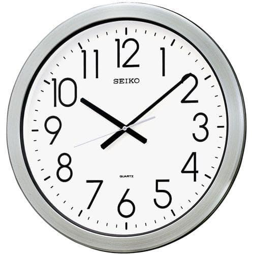 SEIKO セイコー 大型防湿・防塵クロック【グリーン購入法適応商品】【KH407S】 掛け時計 44cm