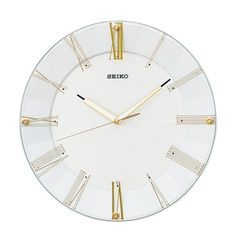 SEIKO(セイコー)スタンダード 電波掛け時計 KX214H ゴールド