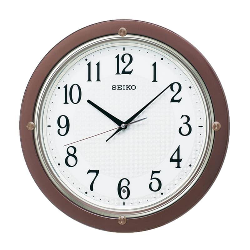 SEIKO(セイコー)スタンダード 電波掛け時計 KX217B 茶メタリック