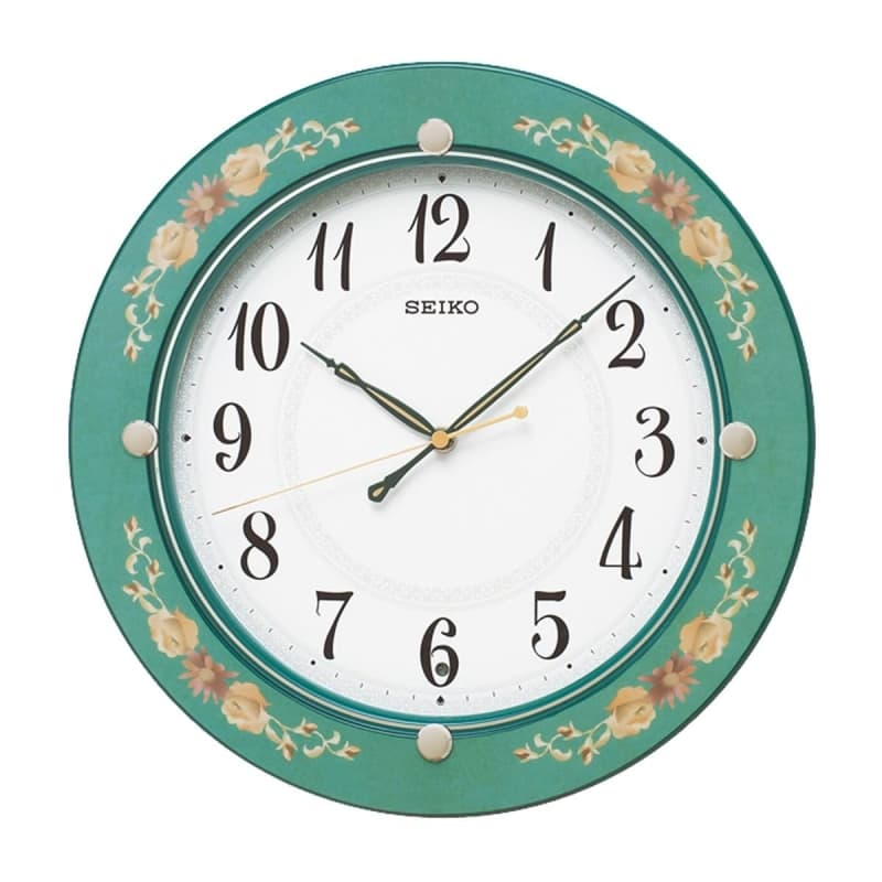 SEIKO(セイコー)スタンダード 木枠 電波掛け時計 KX220M 緑