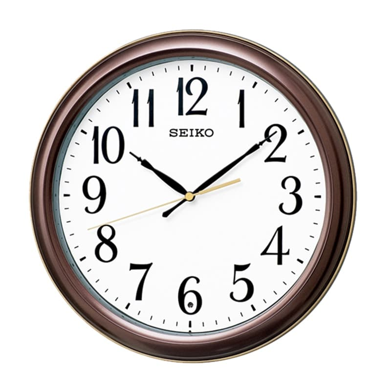 SEIKO セイコー スタンダード 電波掛け時計 KX234B 茶メタリック