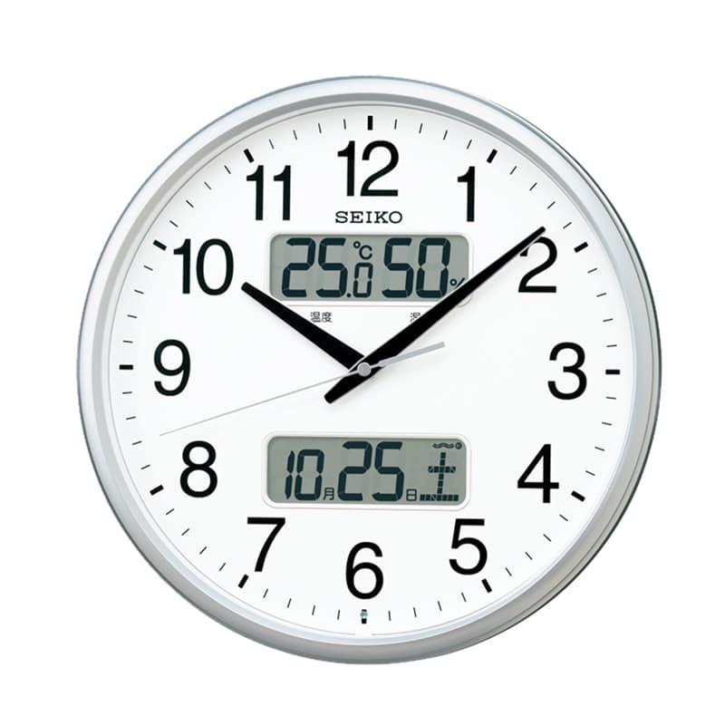SEIKO セイコー オフィスタイプ 電波掛け時計 KX235S シルバー 35cm