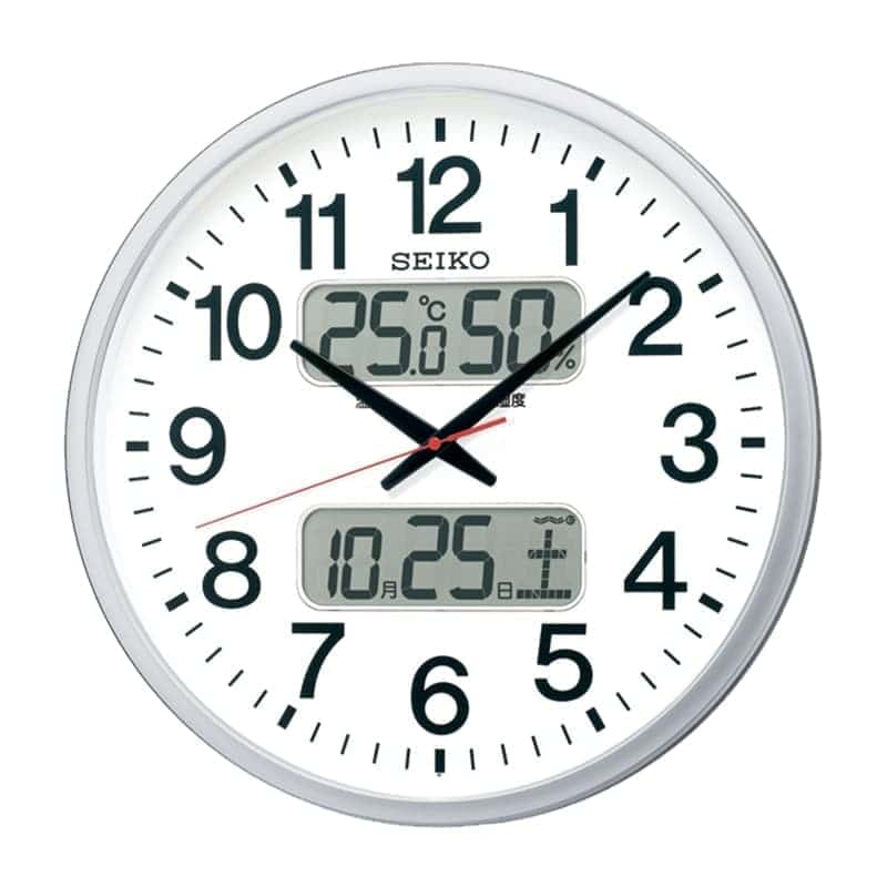 SEIKO セイコー オフィスタイプ 電波掛け時計 KX237S シルバー