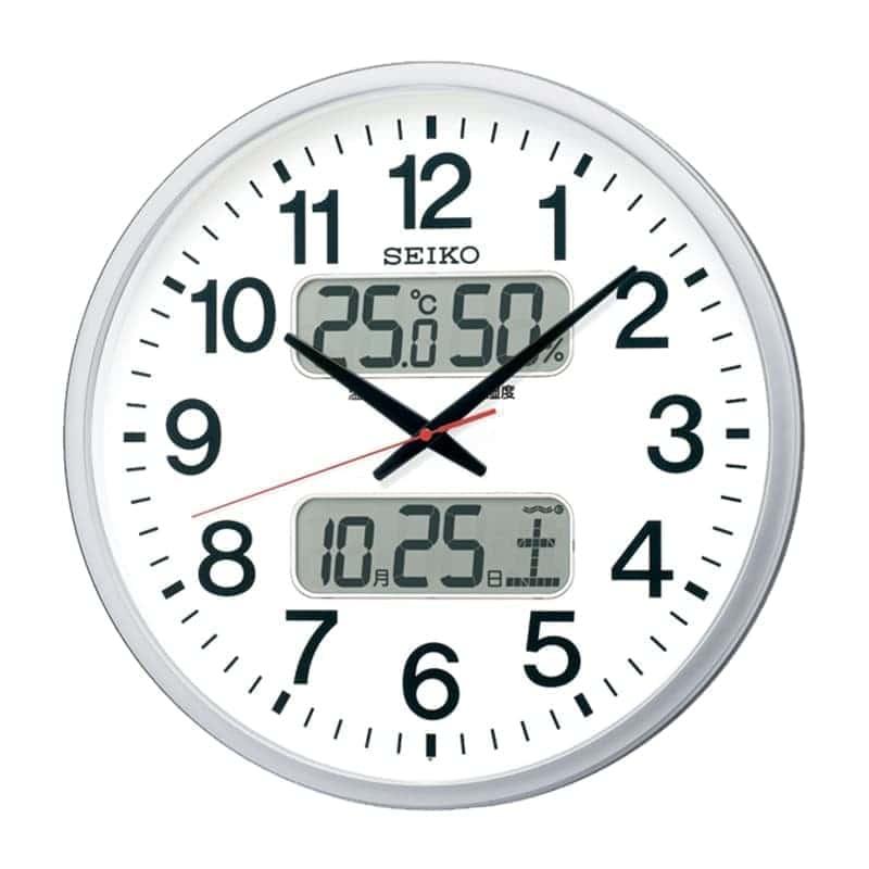 SEIKO セイコー オフィスタイプ 電波掛け時計 KX237S シルバー 50cm