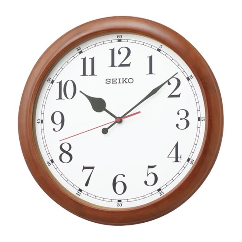 SEIKO セイコー オフィスタイプ 木枠 電波掛け時計 KX238B 茶 50cm