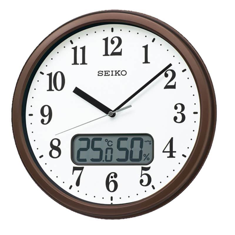 SEIKO セイコー スタンダード(液晶表示付)  電波掛け時計 KX244B