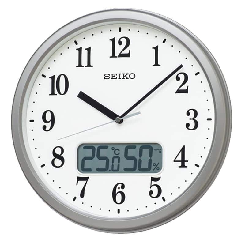 SEIKO セイコー スタンダード(液晶表示付)  電波掛け時計 KX244S
