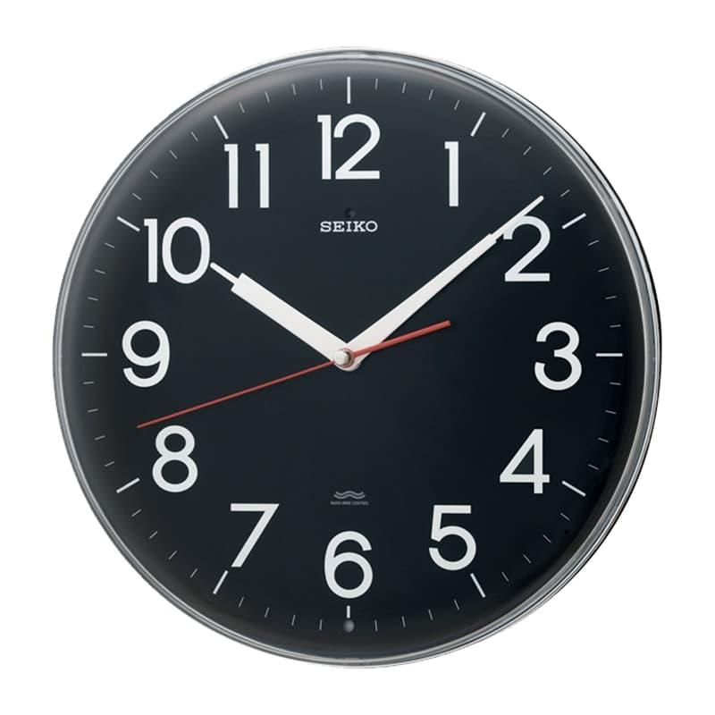 SEIKO セイコー スタンダード 電波掛け時計 KX301K 黒