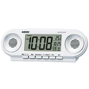 SEIKOセイコー ライデン 電波クロックデジタル目覚まし時計 【NR531W】 白パール