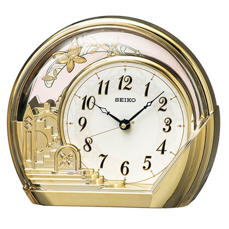 SEIKO セイコー 振り子付 クオーツ置き時計【PW428G】