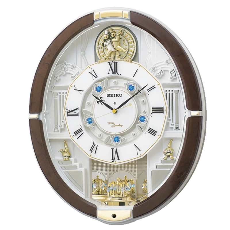 SEIKO(セイコー) 電波からくり掛け時計 ウェーブシンフォニー RE575B 茶