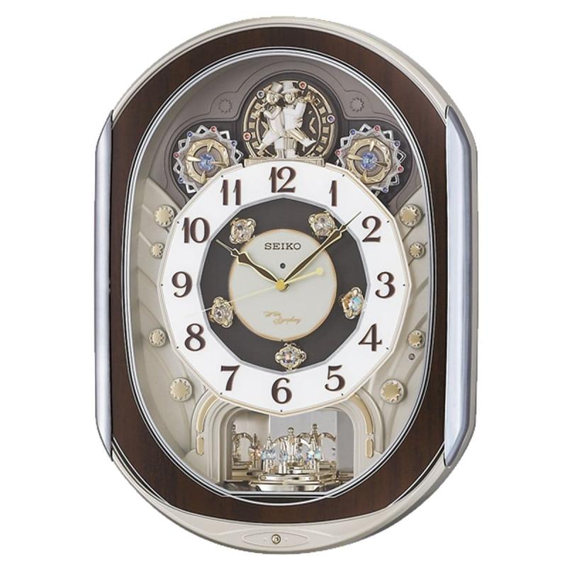 SEIKO(セイコー) 電波からくり掛け時計 ウェーブシンフォニー RE578B 茶