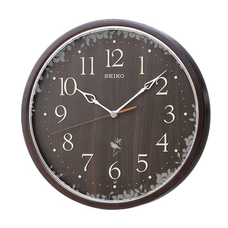 SEIKO セイコー 報時付き 木枠 電波掛け時計 RX215B 濃茶