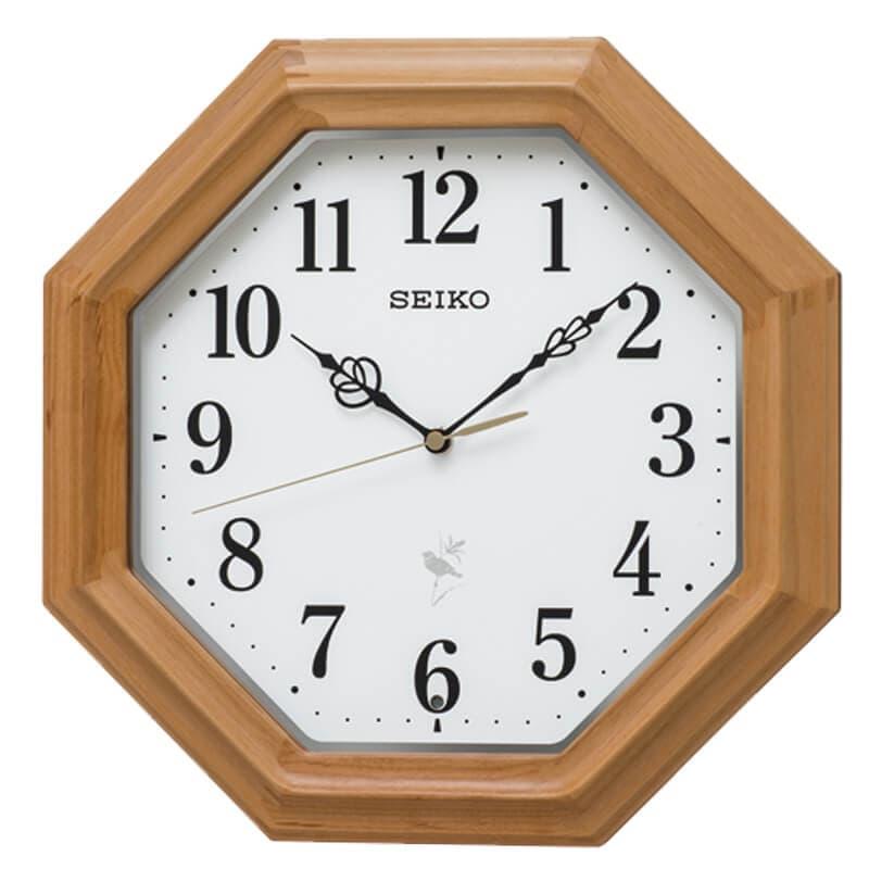 SEIKO セイコー 報時付き 木枠 電波掛け時計 RX216B