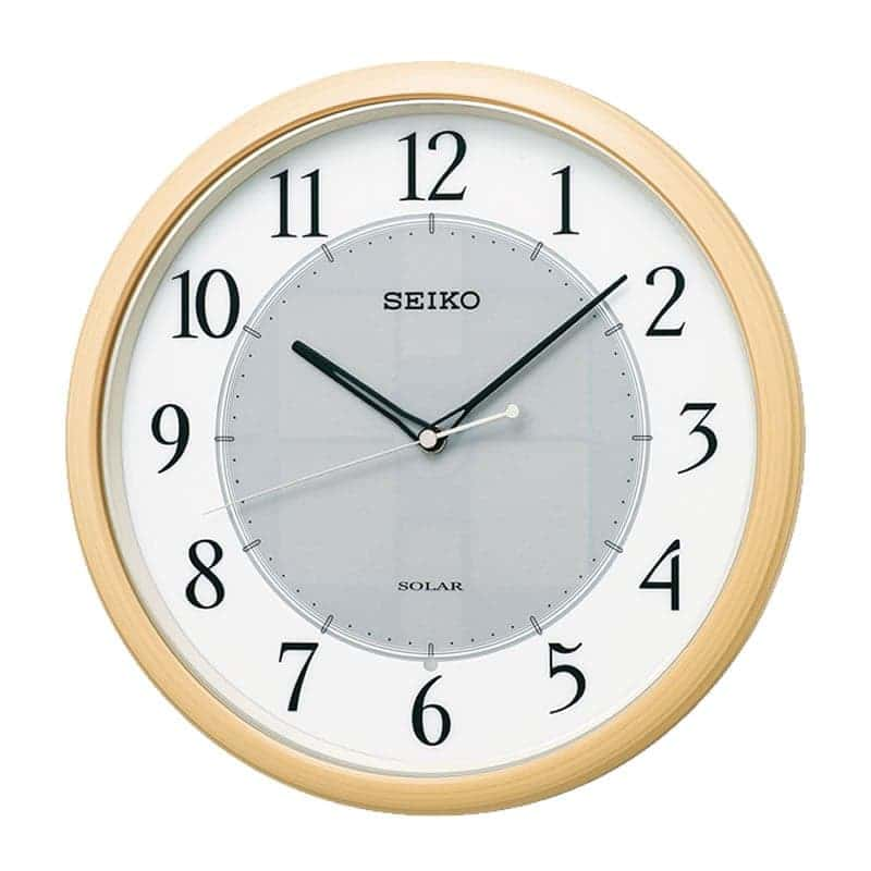 SEIKO セイコー ソーラー 電波掛け時計 ソーラープラス SF243B 薄茶