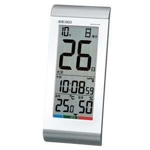 セイコー(SEIKO)掛け置き兼用デジタル電波クロック/SQ431S/銀色メタリック