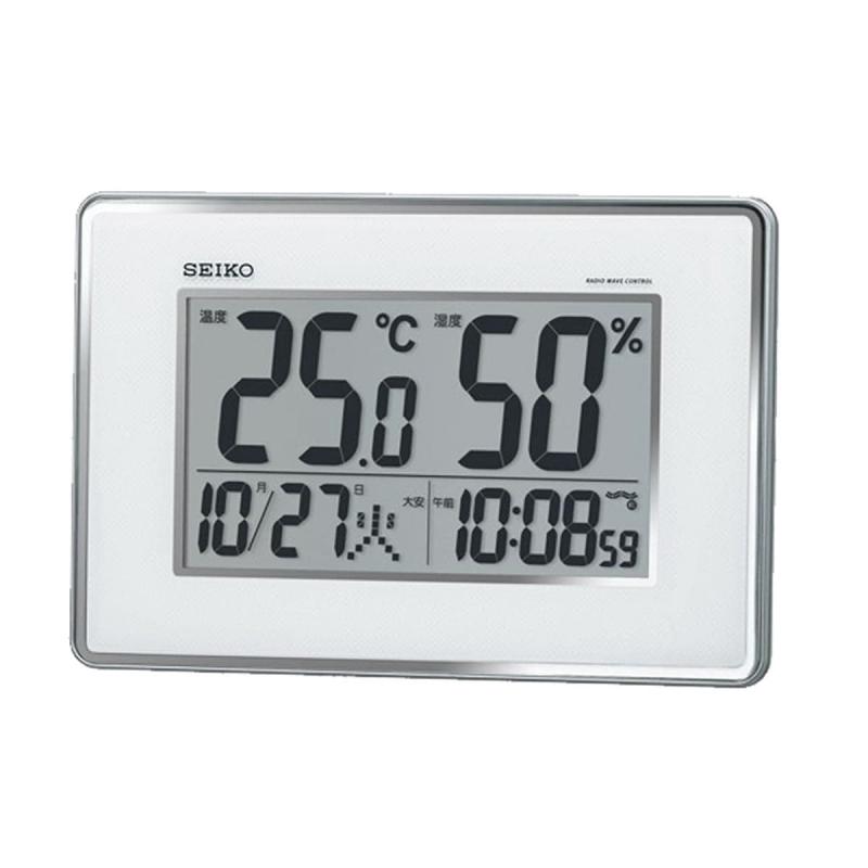 SEIKO(セイコー)温度・湿度表示付 掛置兼用 デジタル電波クロック SQ437S