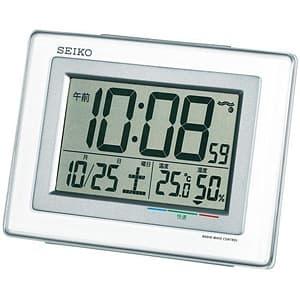 セイコー(SEIKO)温湿度表示デジタル電波クロック目覚まし時計/SQ686W