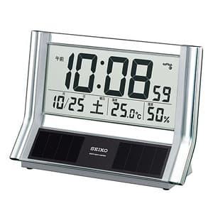 セイコー(SEIKO)ハイブリッドソーラーデジタル電波クロック置き時計/SQ690S