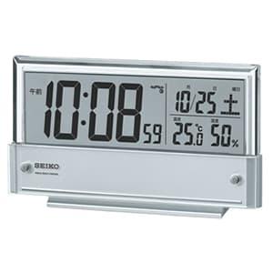 セイコー(SEIKO)温湿度表示デジタル電波クロック目覚まし時計/SQ773S