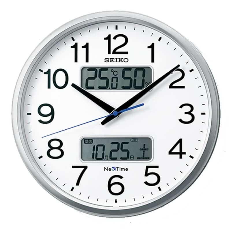 SEIKO セイコー ネクスタイム(液晶表示付)  電波掛け時計 ZS250S 35cm