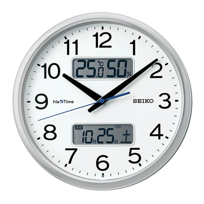 SEIKO セイコー ネクスタイム(液晶表示付)  電波掛け時計 ZS251S
