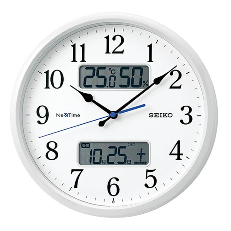 SEIKO セイコー ネクスタイム(液晶表示付)  電波掛け時計 ZS251W