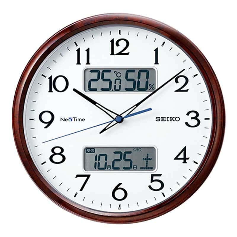 SEIKO セイコー ネクスタイム(液晶表示付)  電波掛け時計 ZS252B